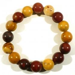 Bracelet en Mookaïte perles rondes 12mm