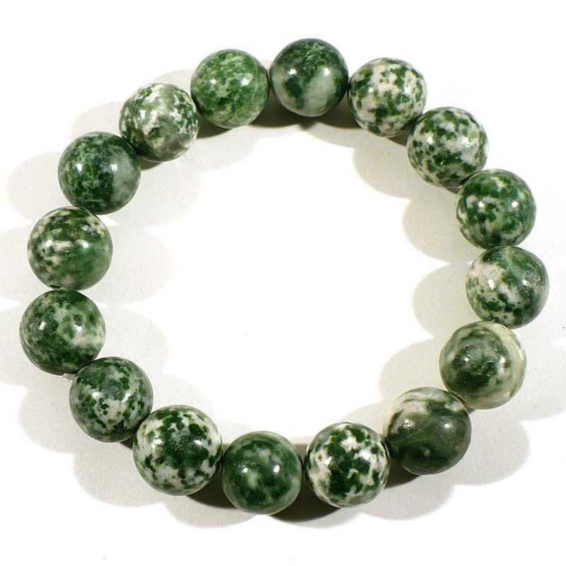 Bracelet en agate arbre perles rondes 12mm