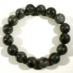 Bracelet en larvikite (labradorite) perles rondes 12mm
