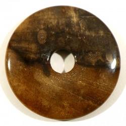 Pendentif donuts en bois fossile 4cm