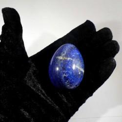 Oeuf en lapis-lazuli d'Afghanistan 6cm