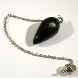 Pendule en obsidienne dorée du Mexique 4cm
