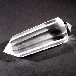 Baton vogel 12 faces en cristal de roche 9cm