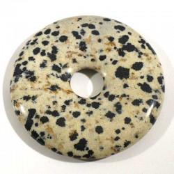 Pendentif donuts en jaspe dalmatien 4cm