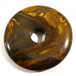 Pendentif donuts en oeil de tigre 3cm
