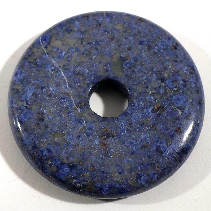 Pendentif donuts en dumortiérite 3cm