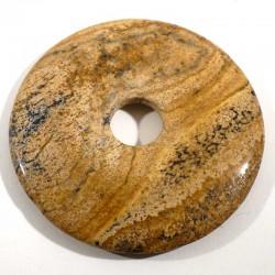 Pendentif donuts en jaspe paysage 5cm