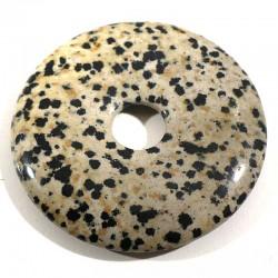 Pendentif donuts en jaspe dalmatien 5cm