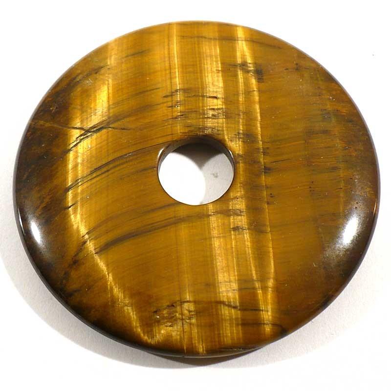Pendentif donuts en oeil de tigre 5cm