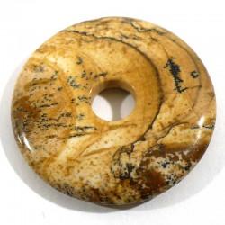 Pendentif donuts en jaspe paysage 3cm