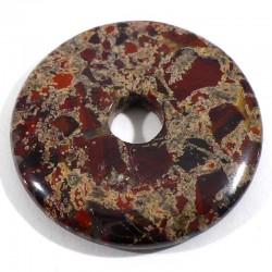 Pendentif donuts en jaspe bréchique 3cm