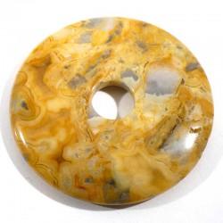 Pendentif donuts en agate crazy lace 5cm