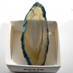 Agate bleue du Brésil - boite de collection 4cm