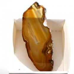 Agate marron du Brésil - boite de collection 5cm