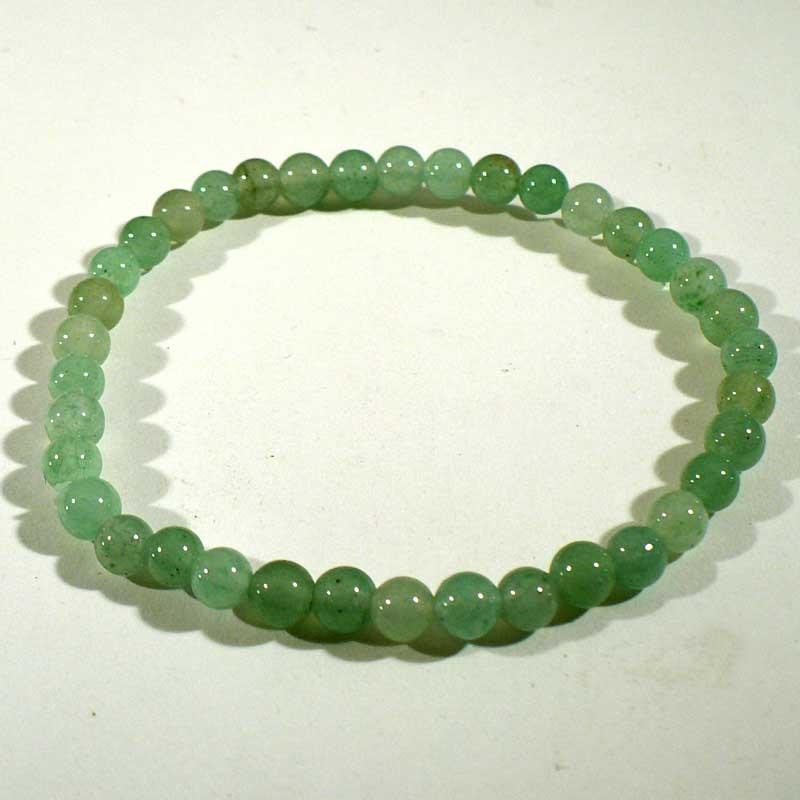 Bracelet enfant en aventurine perles rondes 4mm