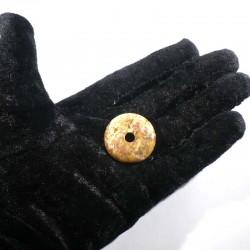 Pendentif donuts en agate crazy lace 3cm
