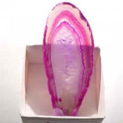 Agate rose du Brésil - boite de collection 4cm
