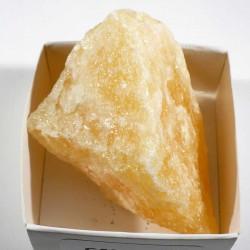 Calcite orange du Mexique - boite de collection 5cm