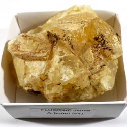 Fluorine jaune du Maroc - boite de collection 6cm