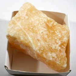 Calcite orange du Mexique - boite de collection 6cm