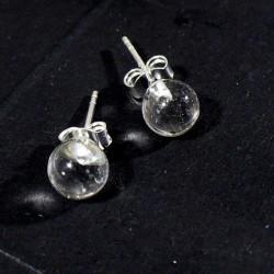 puces d'oreilles en cristal...