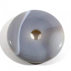 Pendentif donuts en agate naturelle 3cm