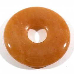 Pendentif donuts en aventurine orange 3cm