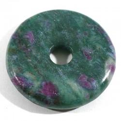 Pendentif donuts en rubis fuchsite qualité extra 3cm