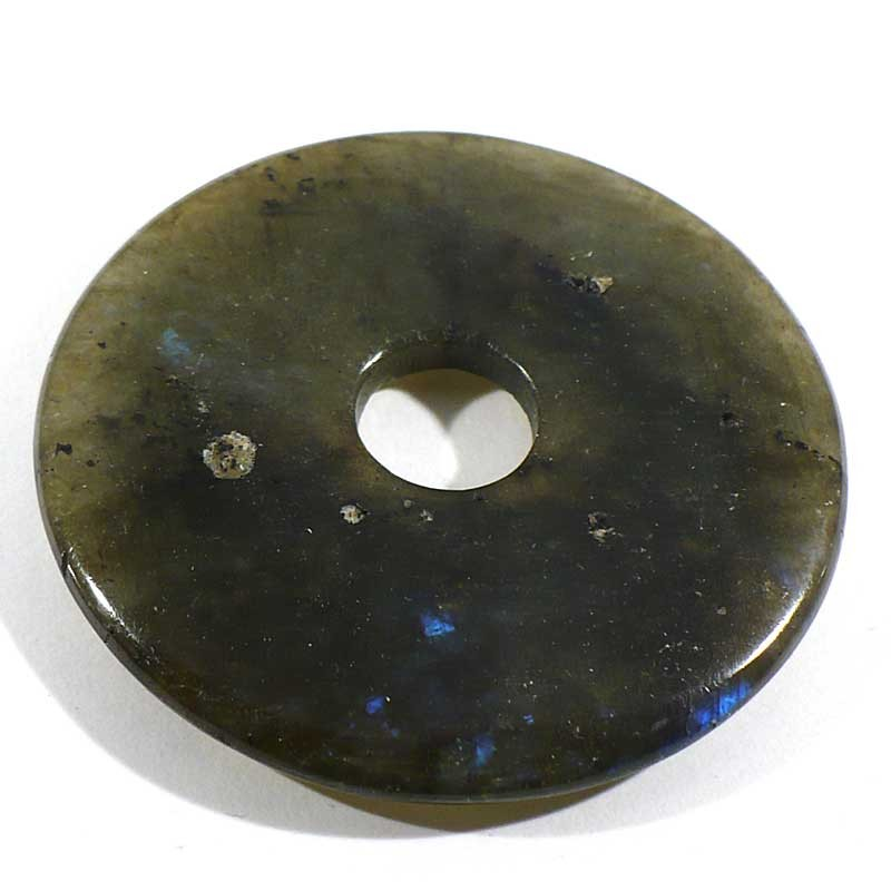 Pendentif donuts en labradorite 5cm