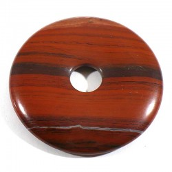 Pendentif donuts en jaspe rouge 4cm