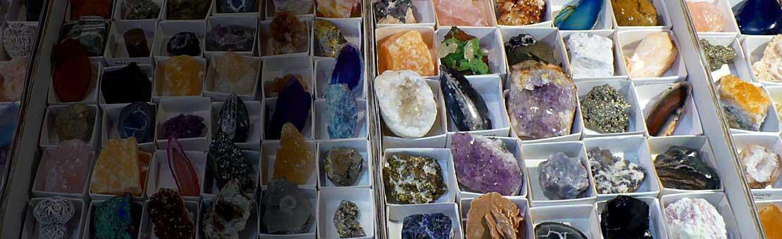 Débutez une collection de minéraux ou fossiles à petits prix